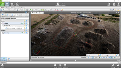 Quantities calculation in BIM with SierraSoft Land 1/3