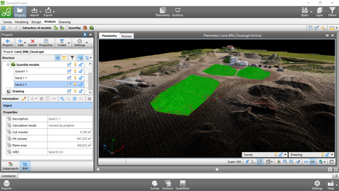 Quantities calculation in BIM with SierraSoft Land 2/3