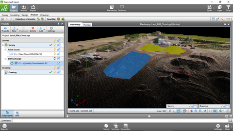 Quantities calculation in BIM with SierraSoft Land 3/3
