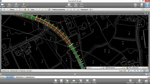 Road design - SierraSoft Roads - Modification and control in real time