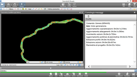 Road design - SierraSoft Roads - Creation. Create the project with one click