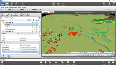 BIM road design: Creation of the federated information model with SierraSoft Roads